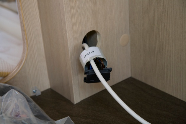 Installing an electric towel rail in a caravan