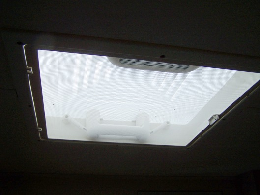 A roof light with permanent ventilation and fly screen built in.
