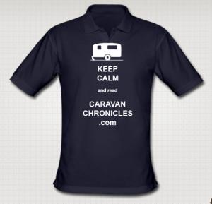 "My own Caravan Chronicles ""Keep Calm"" polo shirt designed on the Caravan Gifts web site"