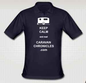 "My own Caravan Chronicles ""Keep Calm"" polo shirt designed on the Caravan Gifts web site"