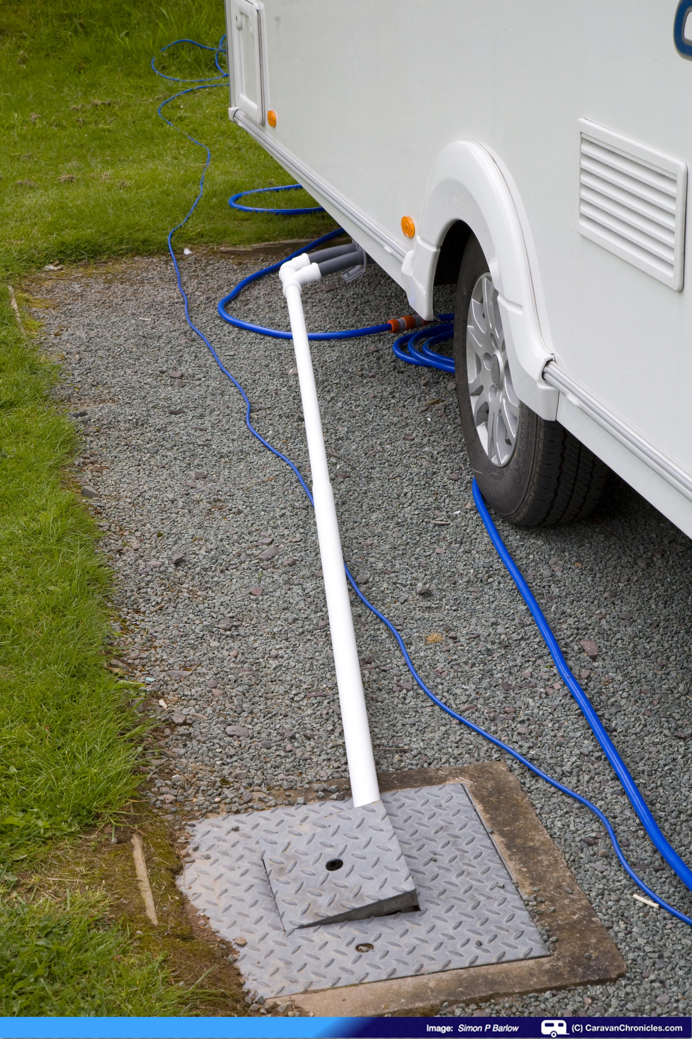 Connecting Your Drainage On Serviced Pitches Caravan