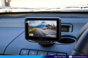 TomTom installed in our Landrover Freelander