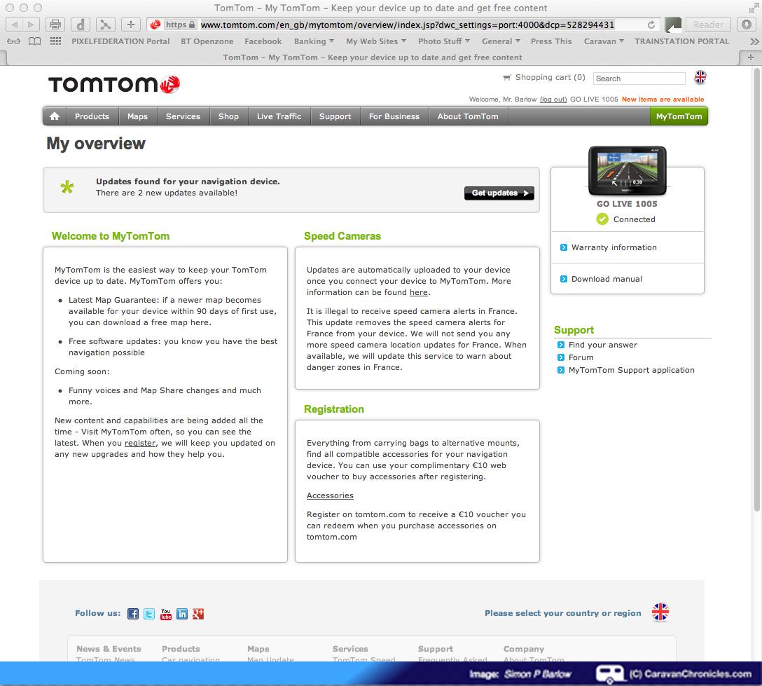Review Of The TomTom GO LIVE Camper And Caravan Sat Nav Caravan - Download usa map on tomtom