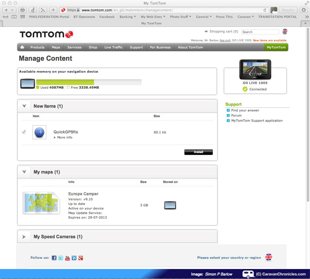 Review of the TomTom GO LIVE Camper and Caravan Sat Nav
