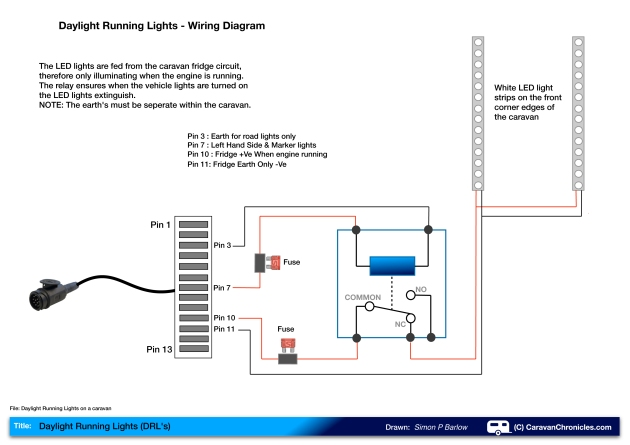 diagram of track running events wiring daylight running lights (drl's) on a caravan ...