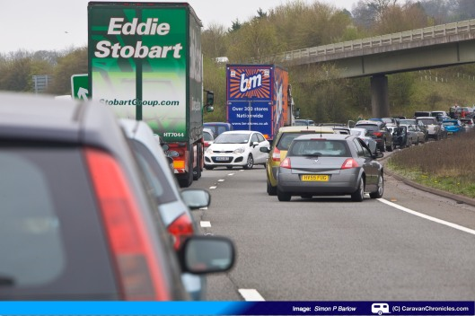 One of the many cars that turned a drove the wrong way down the A34 to get across to the A339