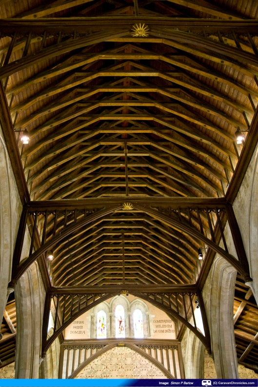 Craftmanship went into constructing the ceiling of The Great Hall
