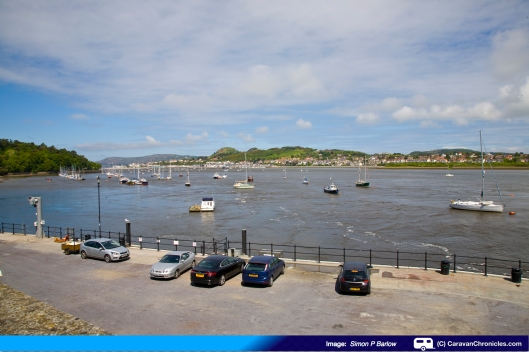 Looking from Conwy Quay over towards Deganwy and The Great Orme