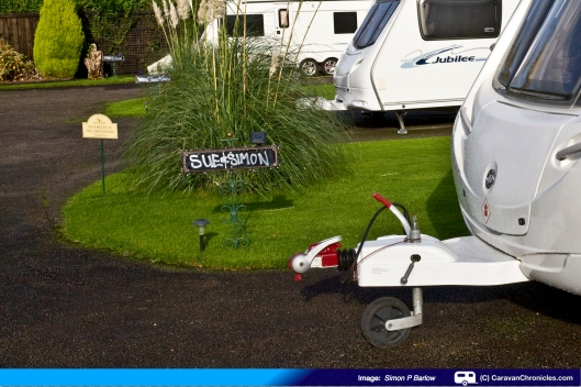 Manor House Caravan SIte - Pitch 1 with our names