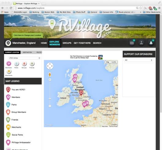 Screen - RVillage UK Members