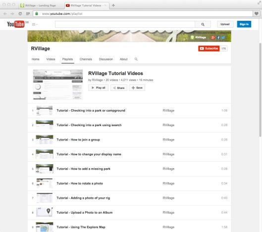 Screen - RVillage Videos