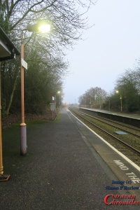 Waiting for the train at Wythall Station in the morning mist